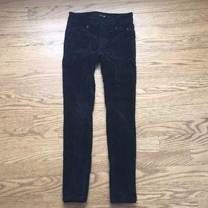 Joe's suede black jeans